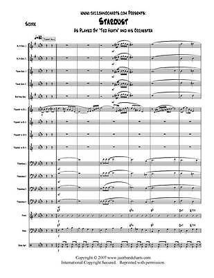 Stardust - Big Band Jazz Chart - Ted Heath - Score + Parts