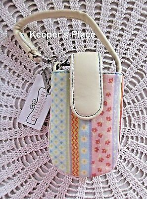 Longaberger SPRING PARADE Cell Phone Case Faux Leather Trim New