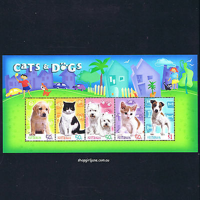 2004 - Australia - Cats & Dogs - mini-sheet - MNH (Stamp Collecting Month)