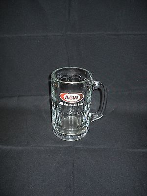 "Vintage A&W Root Beer Glass Mug Heavy Thick Glass 6"" dated 1997 Okinawa Japan"