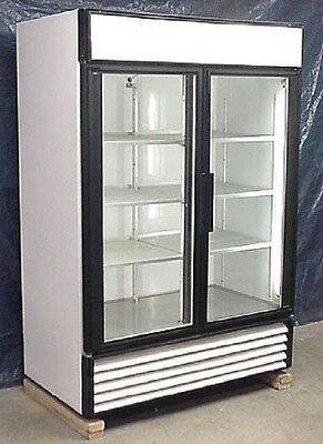 Used True Two Glass Door Cooler Merchandiser