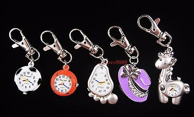 New 10pcs Football Monkey hat Mixed Key Ring boys girls watches quartz USM2