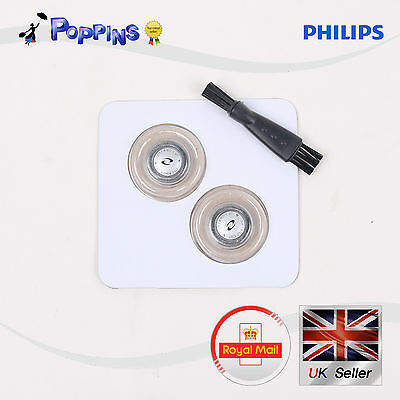 2pcs X Shaver Razor Heads Replacement Blades Cutters + Brush For Philips HQ56