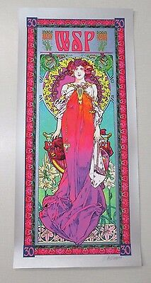 WSP Widespread Panic Masse Silkscreen Signed Numbered 30th Anniversary
