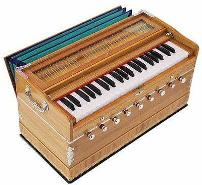 HOME DECOR EDH  Harmonium-Teak Color-440Hz-Extra -Long Sustain Sound-Yoga-Bhajan