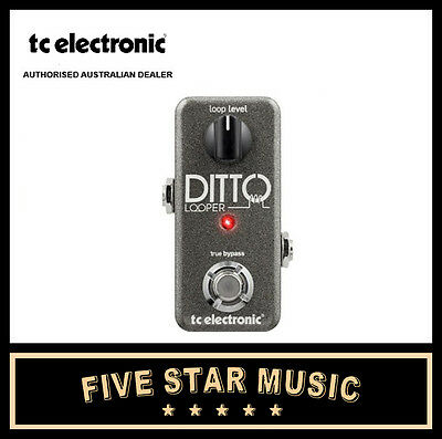 Tc Electronic Ditto Loop Guitar Effects Looper Pedal New