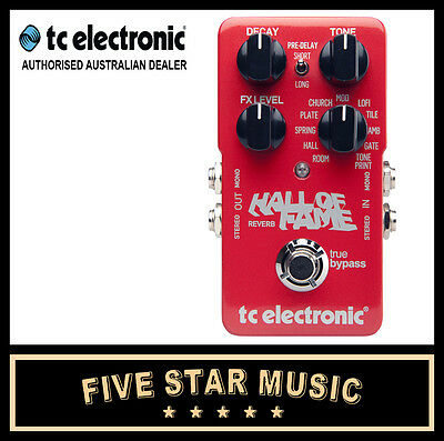 Tc Electronic Tp Hof Hall Of Fame Reverb Guitar Effect Pedal New Tone Print