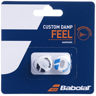 Babolat Damper Custom Damp Shock Absorber Vibration - Pack of 2 - White / Blue