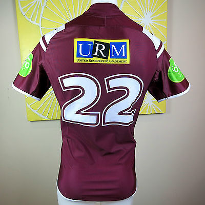 MANLY SEA EAGLES 2015 S G BALL CUP JERSEY PLAYERS   No. 22 Size M