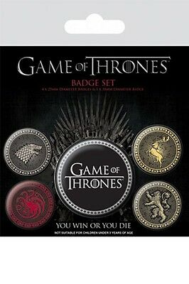 GAME OF THRONES - Great Houses - Button Set - Badge Pack - Neu OVP