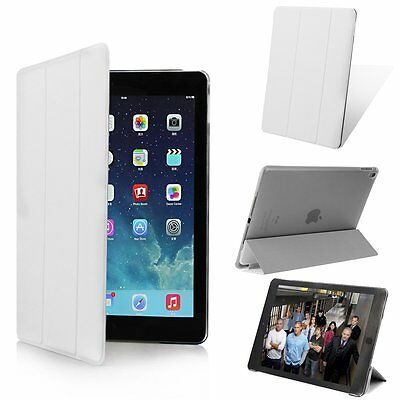 Magnetic Leather Smart Cover Hard Slim Back Case For Apple iPad 2 3 4 5 Air/mini