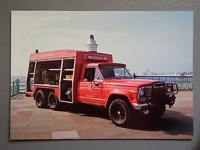 R&L Postcard: Emergency Rescue Fire Tender Truck, East Sussex, Jeep Base