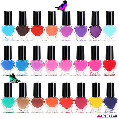 24 x Nail Polish Varnish Set for Artificial Nails 24 Colours Classic & Bright