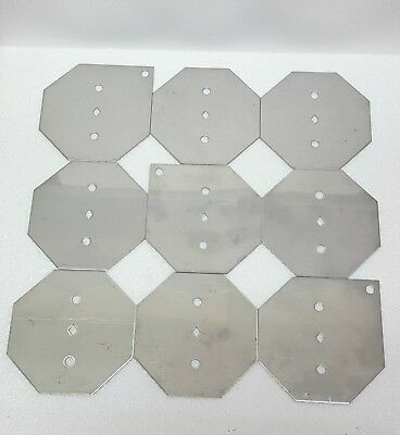 Hho Stainless Steel Plates Kit 9 - 316L Save Fuel Gas Mpg Hydrogen Generator