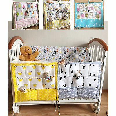 Cot Cradle Change Table Tie on Nappy Diaper Organiser Hanging Storage Pockets