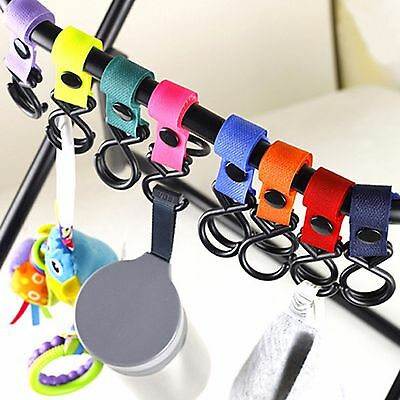 Baby Stroller Pram Pushchair Shopping Bag Handbag Hook Hanger Clips Carrier