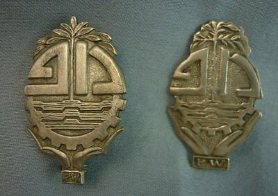 Lot 2 Unusual Old Sterling Pin Marked P.W. Unknown J7118