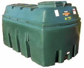 2500L Domestic Heating Oil Tank Green Oil Tank - OFTEC APPROVED