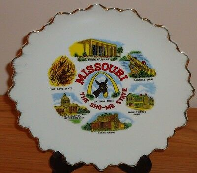 """MISSOURI THE SHO-ME STATE 8.5"""" collector's plate"""