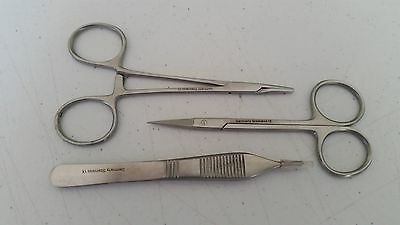 Classic Suture Removal 3pcs Kit German Stainless Steel CE Surgical Instruments