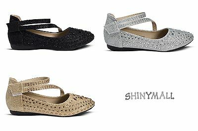 Girls Toddlers Youth Mary jane Party Dress Shoes Silver Gold black glitter