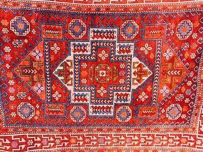"Antique Turkish Hand Knotted Soft Wool Vegetable Dyes Turkish Rug 98"" 71"""