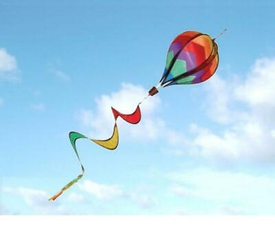 HOT AIR BALLOON SPINNER TWISTER WINDSOCK for FLAG POLE caravan camping garden