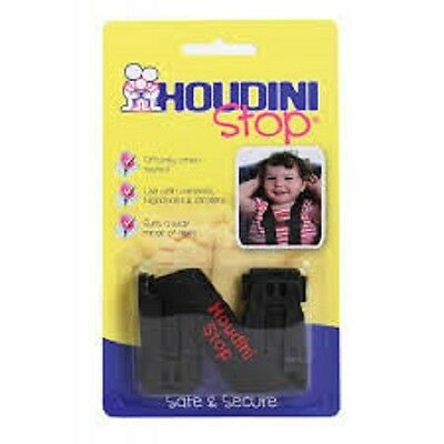 Houdini stop, car seat safety strap