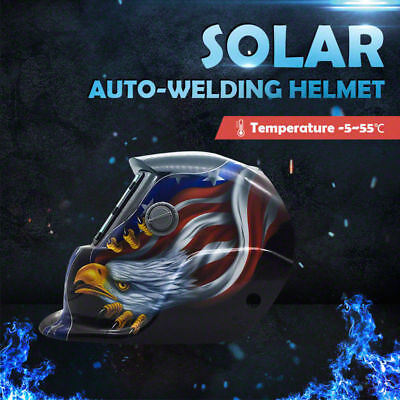 Pro Eagle Mask Shield Solar Auto Darkening Welding Helmet Arc Tig