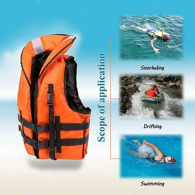 Powerful! Professional Safety Life Jacket Survival Vest Swimming + Whistle Y8B7