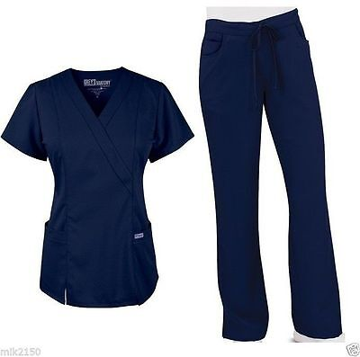 Grey's Anatomy Scrubs Set 23 Indigo Top 41101 Pant 4232 Regular,Petite,Tall NWT
