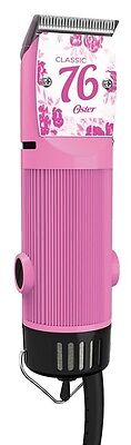 Oster Classic 76 Hair Clipper Professional Pro Salon Pink Flower NEW
