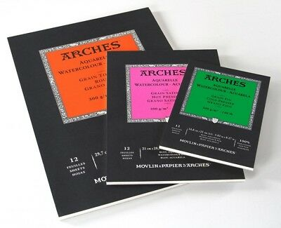Arches Watercolour Pad 300gsm A5 (Rough, Medium, Smooth)