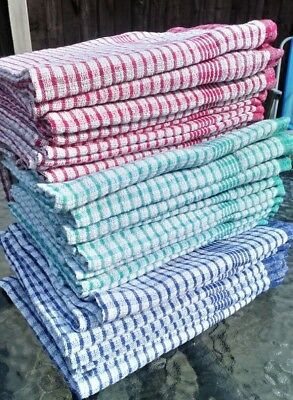 Packs of WONDERDRY Large Tea Towels 100% Cotton Large Kitchen Drying Cloth
