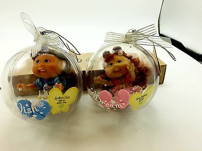2 Two Cabbage Patch Lil Sprouts Kids Dolls Ornament  october 22 June 7 NEW