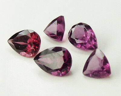 5 Purple Rhodolite Garnets 2.35 tctw 5 pcs lot Color Shift to Pink Pear Trillion