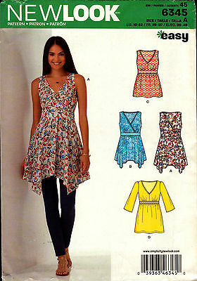 New Look Pattern 6345 Beautiful Crossover Tops
