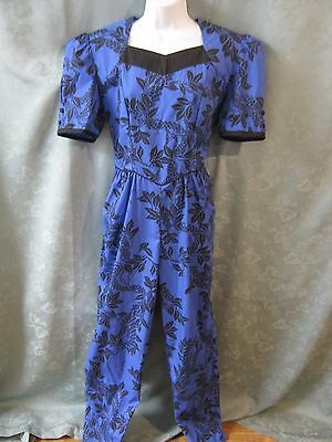 80's Mango's Allan James Aloha Print Jumpsuit Size 10 NWOT Made in Hawaii