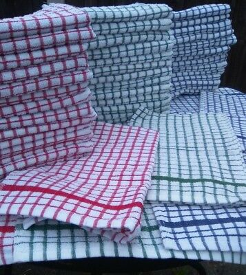 Pack of large Terry tea towel  kitchen dish drying thick absorbant 100% cotton