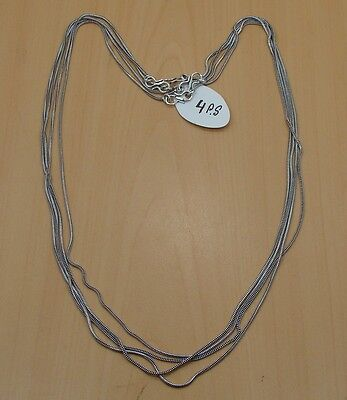 Wholesale 4Pc 925 Silver Plated Black Oxidized Chain Necklace Jewelry Lot