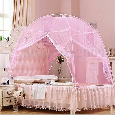 Portable Folding Freestand Bed Canopy Mosquito Net Tent For Queen King Size