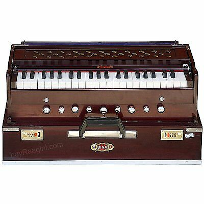 HOME DECOR EDH Delux Harmonium-Folding-9 Stops-Coupler Function -Special Reeds