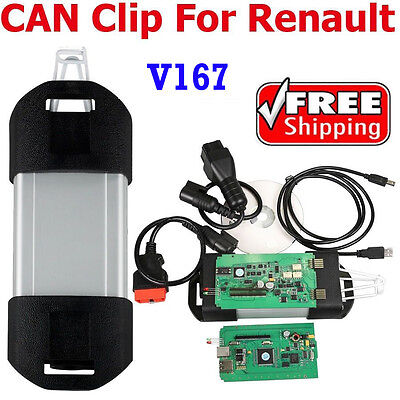 CAN Clip For Renault V162 Latest Renault Software Diagnostic Tool Multi-Language