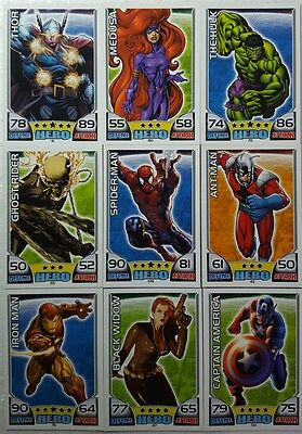 2011 TOPPS MARVEL Hero Attax Trading Card Set of 160  UK 41-200  BEST VALUE!!!!