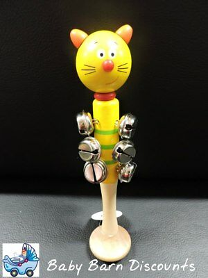 NEW Eleganter - Animal Bell Stick - Yellow Cat from Baby Barn Discounts
