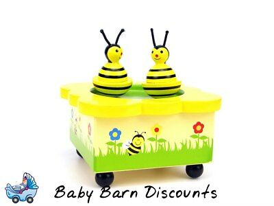 NEW Wooden Wind Up Music Box - Bee Design from Baby Barn Discounts