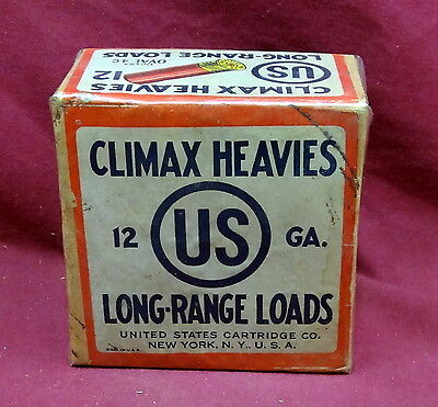 United States Cartridge Co., Climax Heavies 12 Ga. 2 Pc. Box, Empty