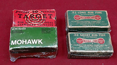 Lot of 4 Vintage .22 Cal. Empty  Ammo Boxes, Remington/Peters