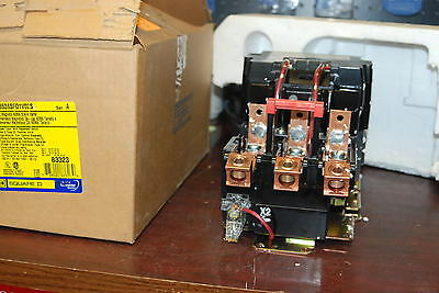 Square D 8536-SF01-V02 S, Size 4, Contactor, 120v Coil,  New in Box