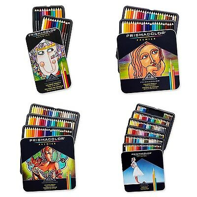 Prismacolor Premier Colored Pencils Soft Core, 24, 48, 72, 132, 150 Colors Pack